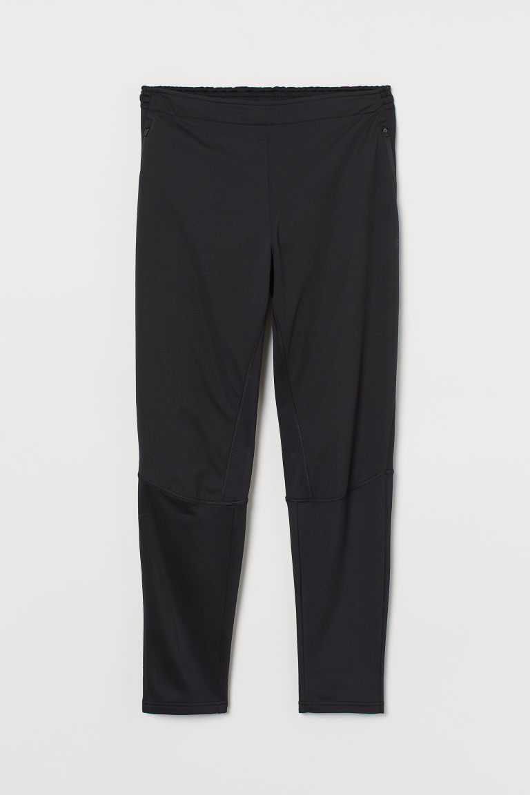 H & M - 跑步長褲 - 黑色