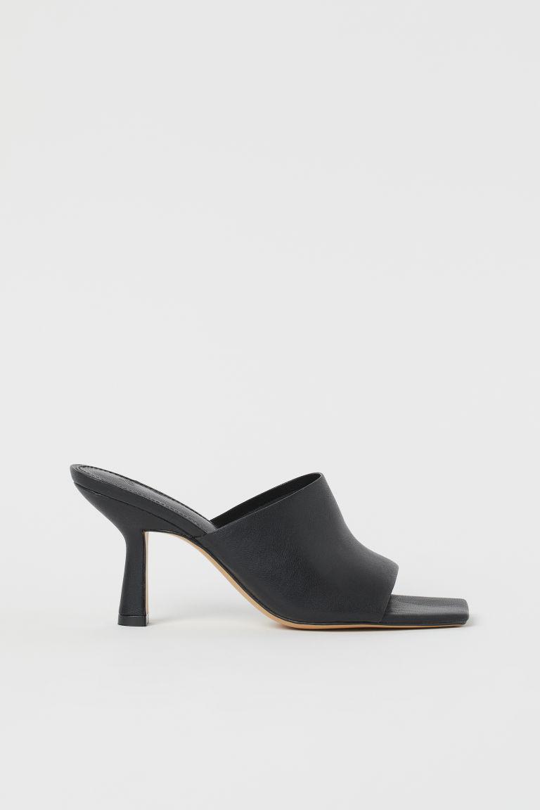 H & M - 懶人拖鞋 - 黑色
