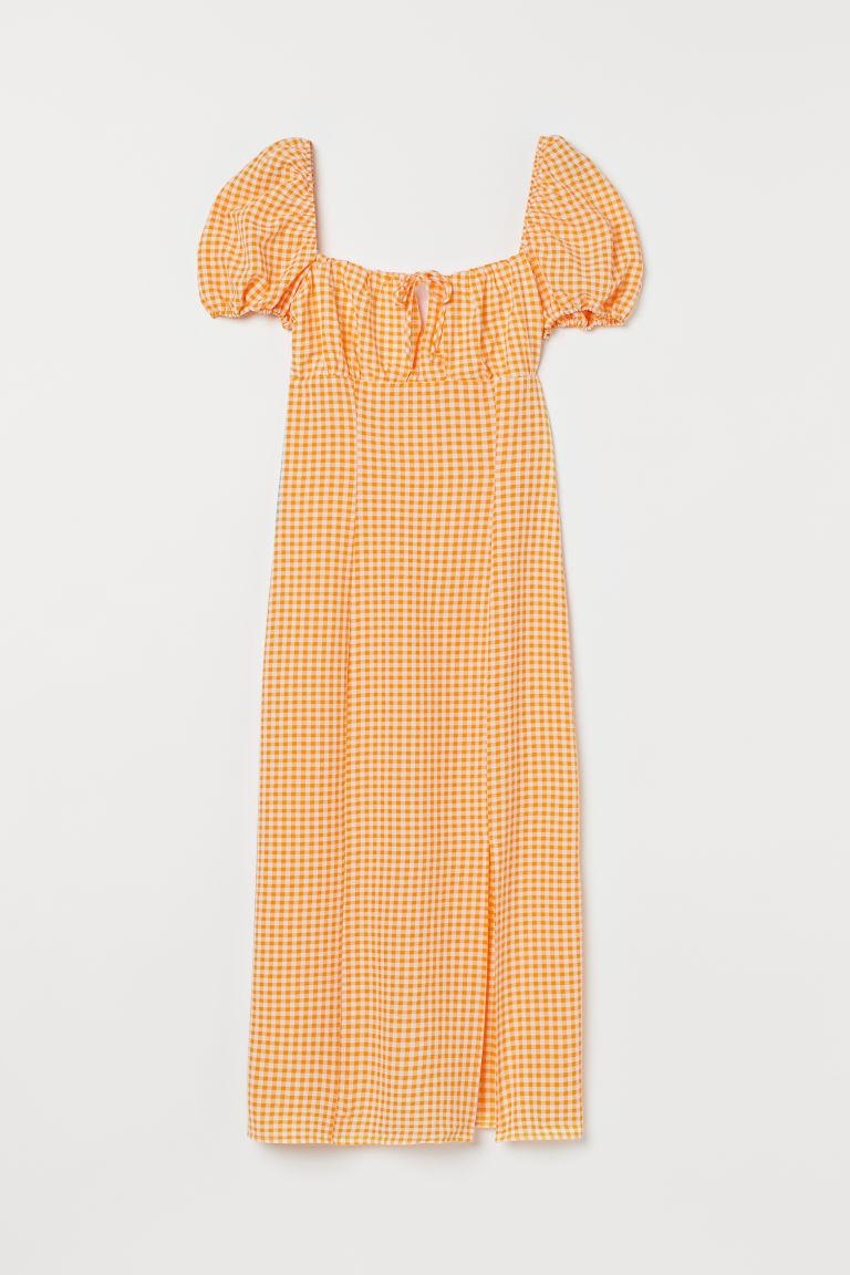 H & M - 公主袖洋裝 - 黃色