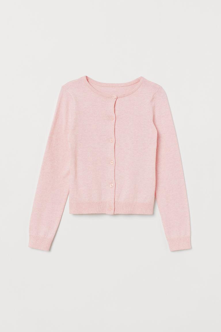H & M - 棉質精織開襟衫 - 粉紅色