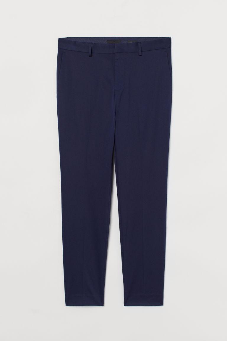 H & M - 緊身西裝褲 - 藍色
