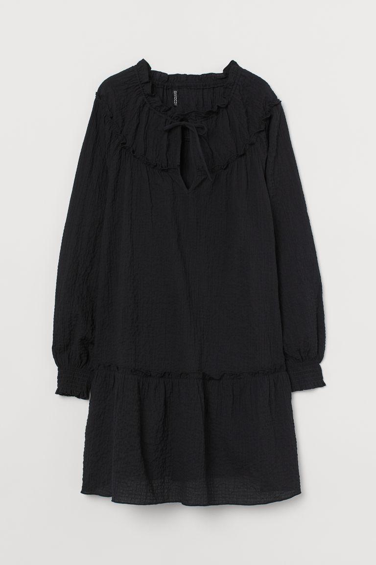 H & M - 燈籠袖洋裝 - 黑色