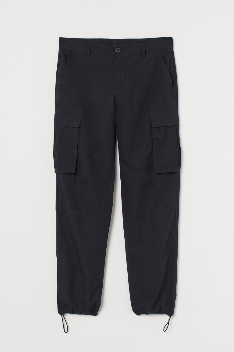 H & M - 合身工作褲 - 黑色