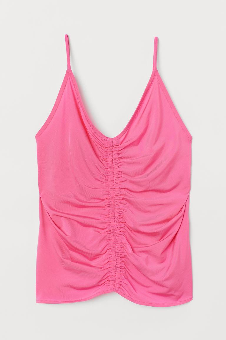 H & M - 垂墜感細肩帶上衣 - 粉紅色
