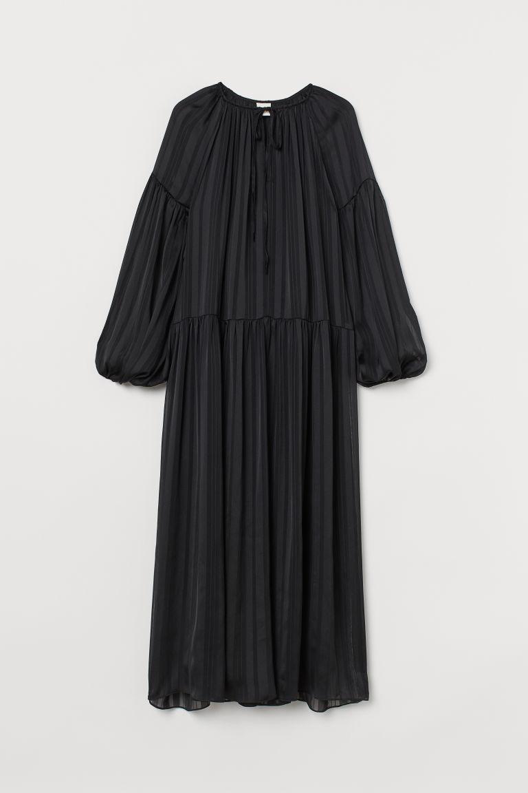 H & M - 雪紡長洋裝 - 黑色