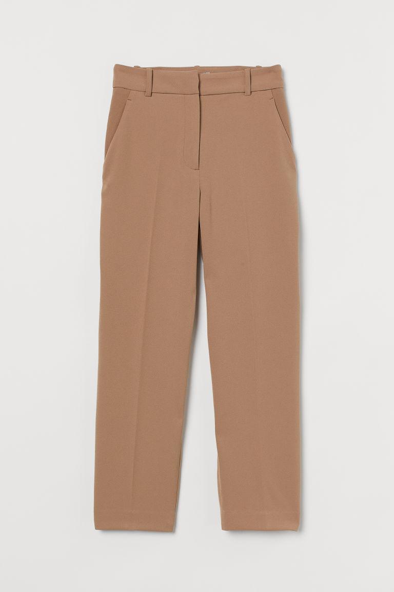 H & M - 煙管褲 - 米黃色