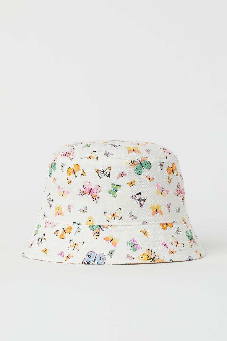 H & M - 印花漁夫帽 - 白色