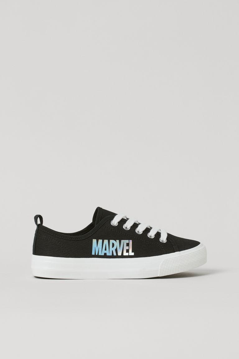 H & M - 圖案運動鞋 - 黑色