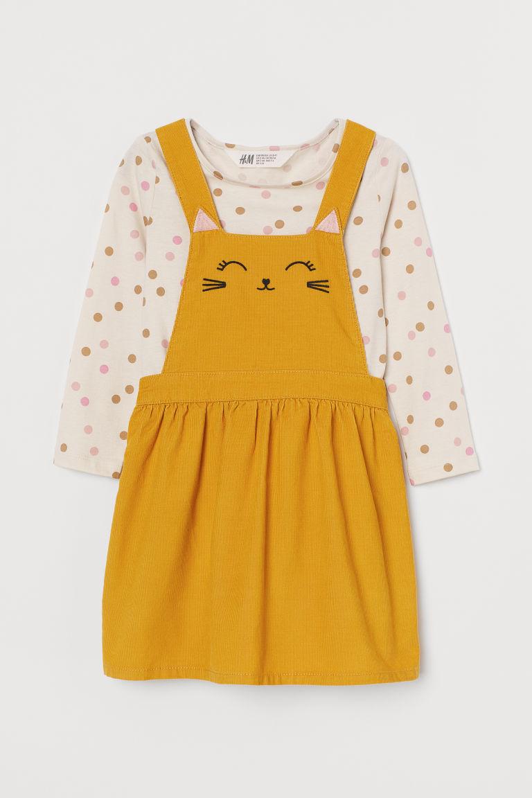 H & M - 棉質2件組套裝 - 黃色