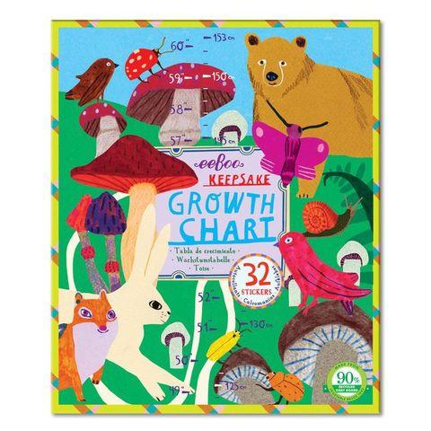 eeboo Mushroom Growth Chart香菇園成長尺