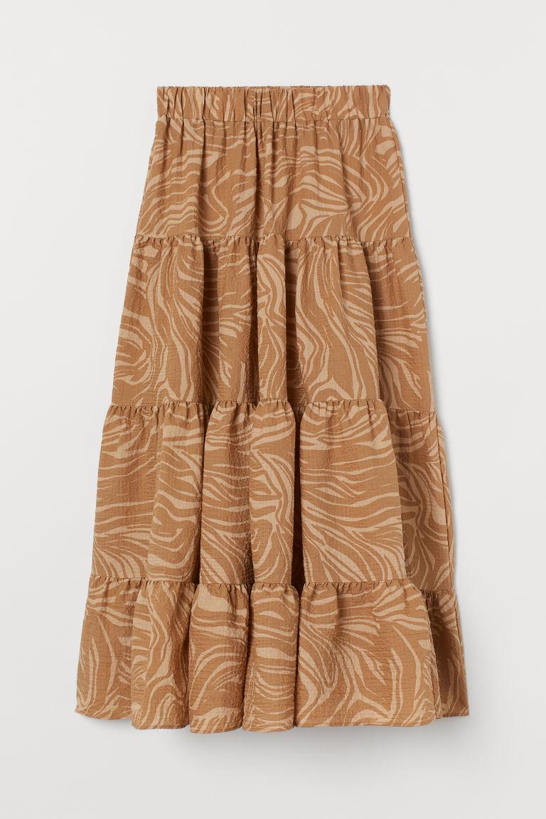 H & M - 寬鬆及地長裙 - 米黃色
