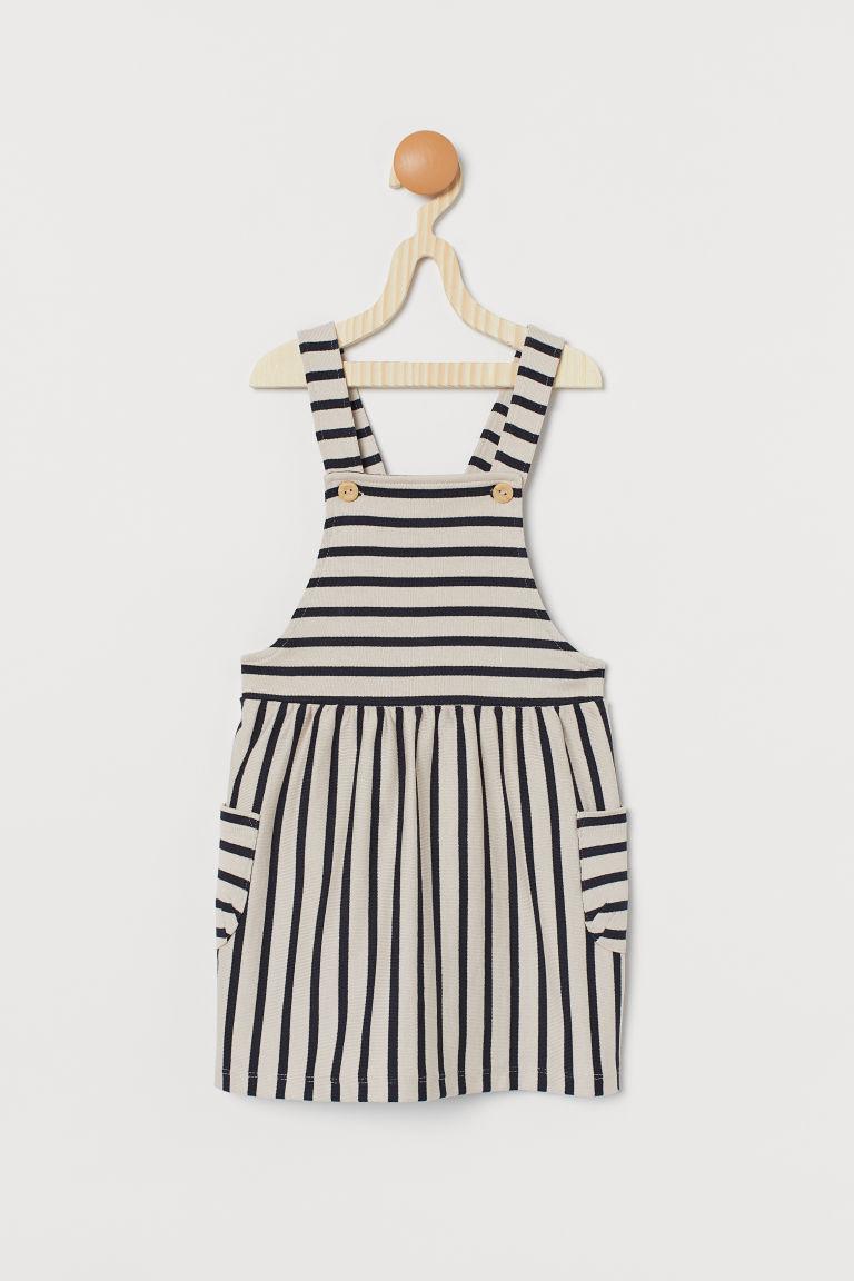 H & M - 棉質吊帶裙 - 藍色