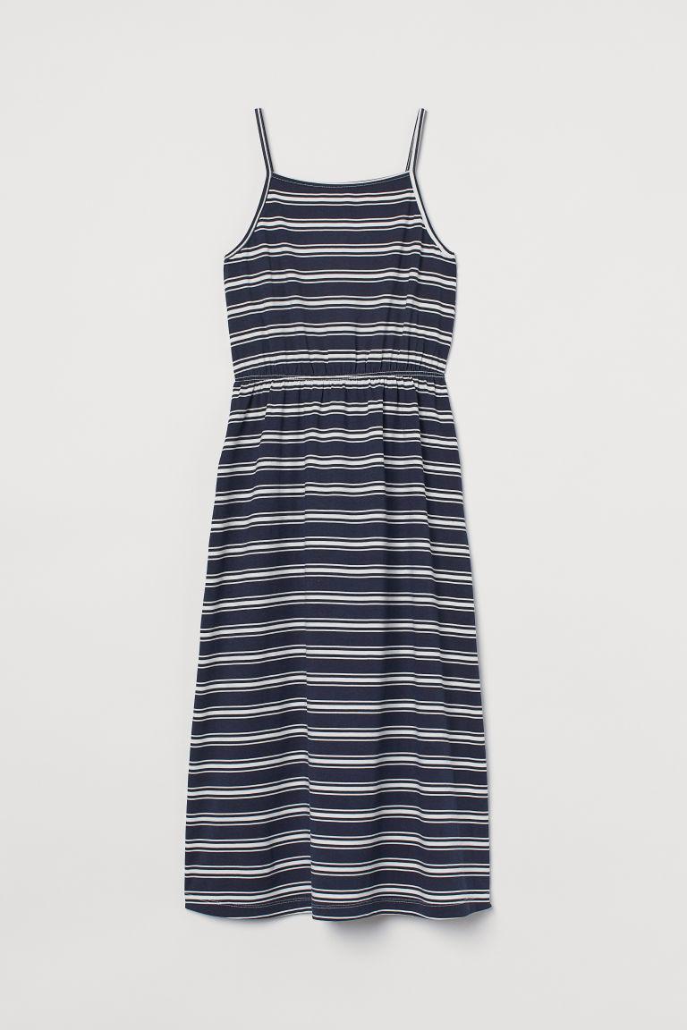 H & M - 棉質及地長洋裝 - 藍色