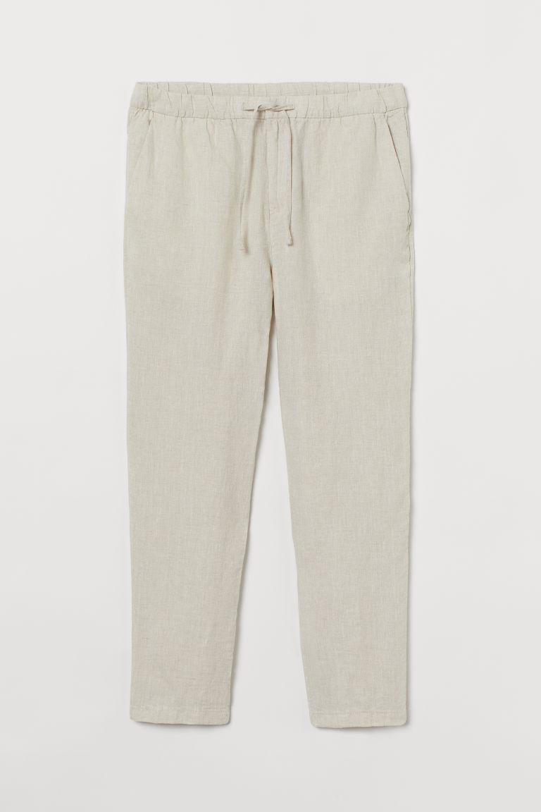 H & M - 休閒剪裁長褲 - 白色