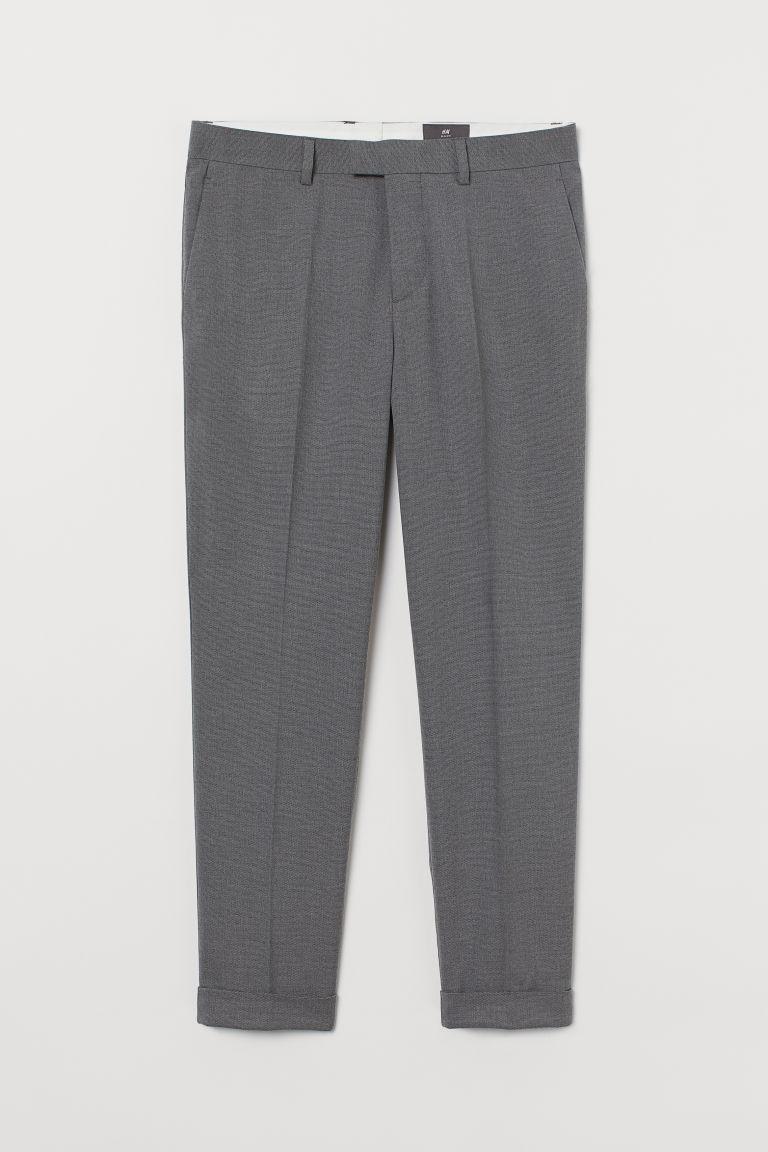 H & M - 貼身西裝褲 - 灰色