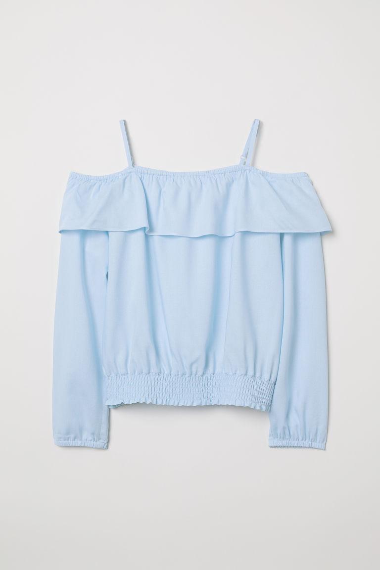 H & M - 露肩女衫 - 藍色