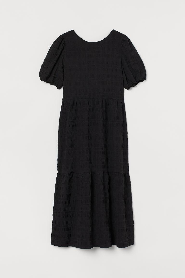 H & M - 後綁帶洋裝 - 黑色
