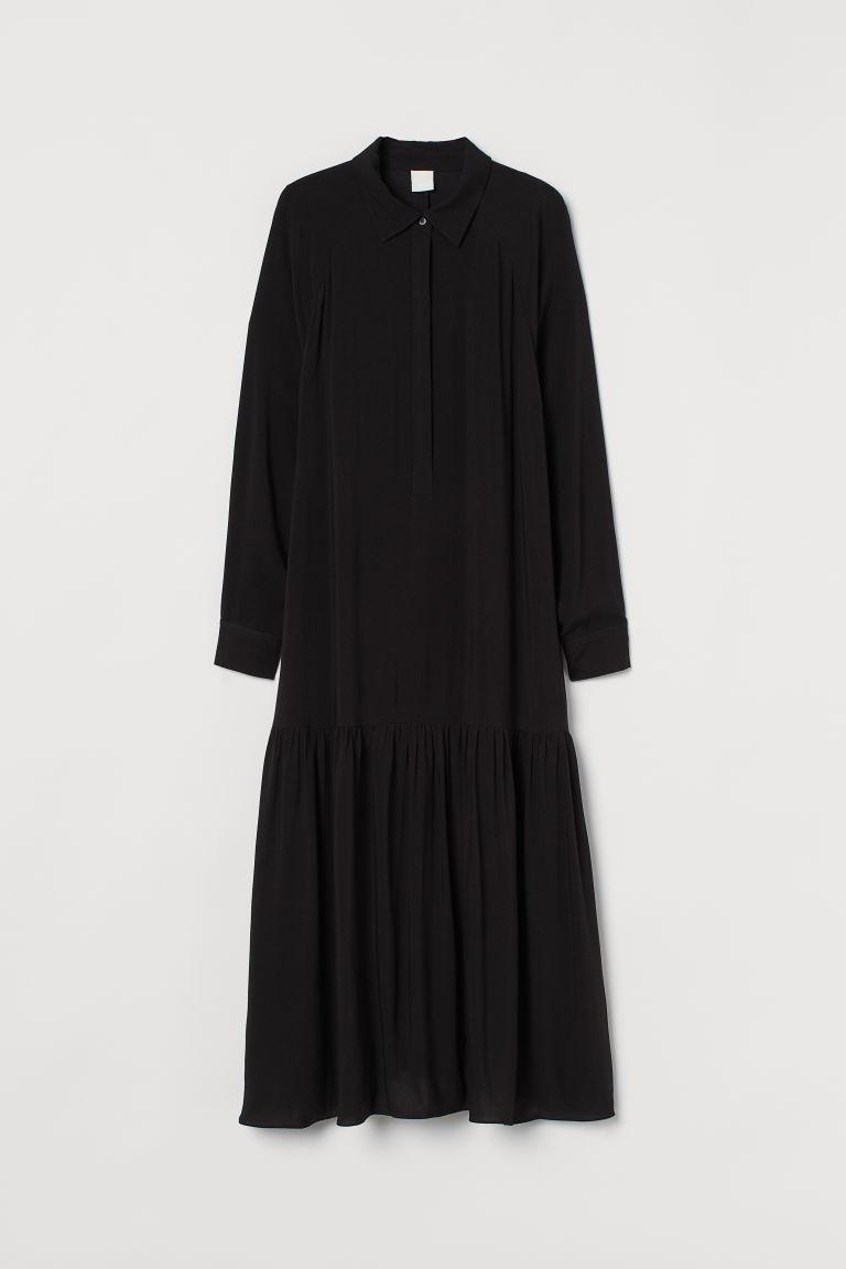 H & M - 中長版洋裝 - 黑色