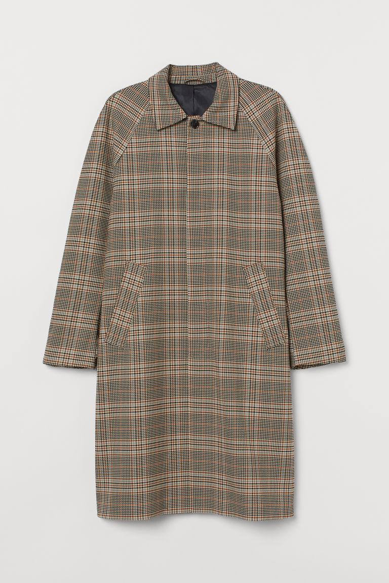 H & M - 印花短大衣 - 米黃色
