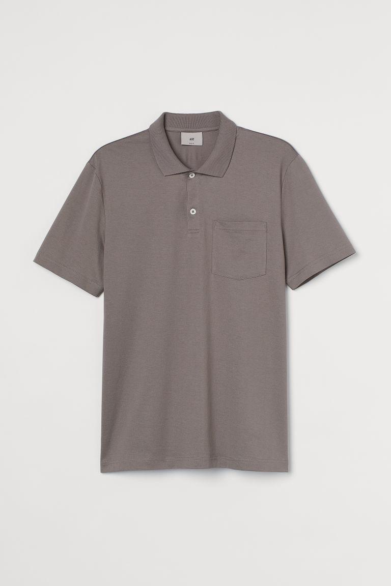 H & M - 優質棉Polo衫 - 米黃色