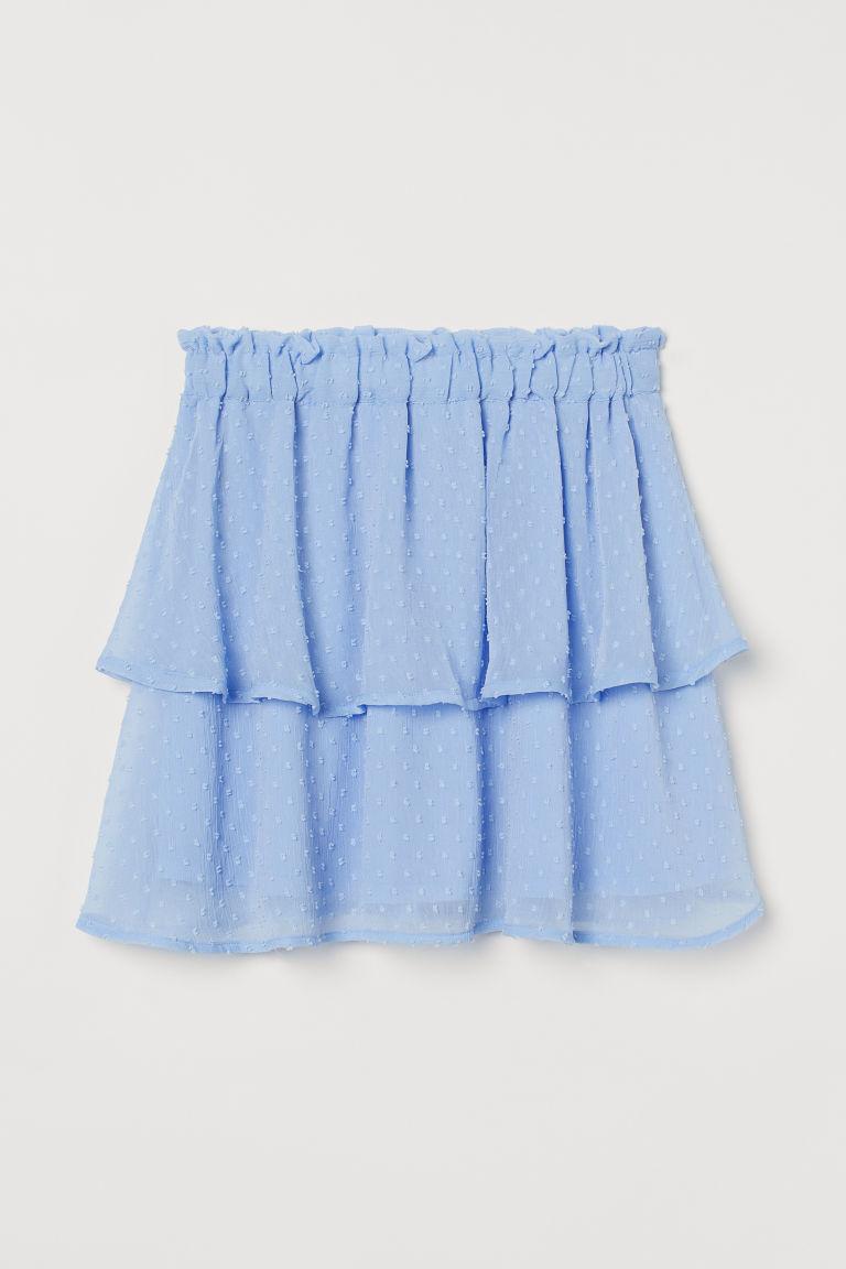 H & M - 雪紡裙 - 藍色