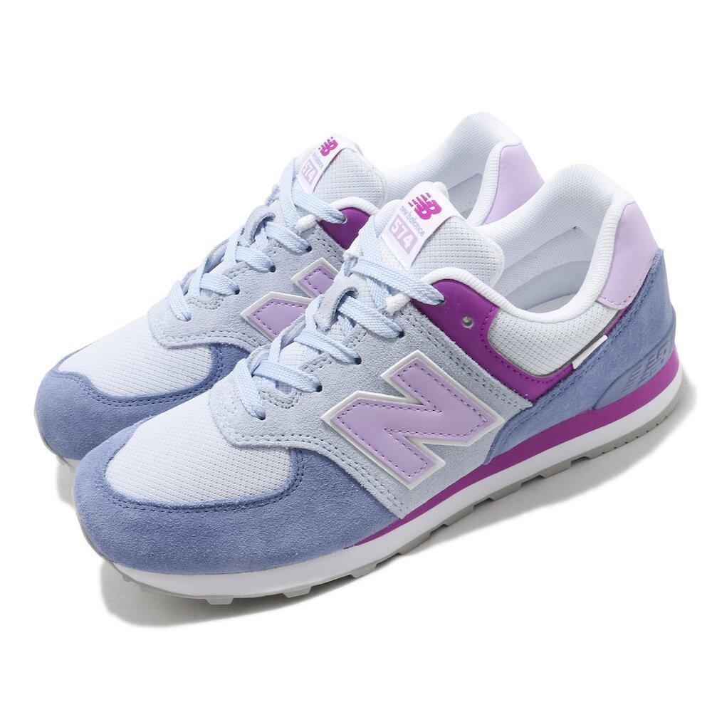 NEW BALANCE 休閒鞋 574 Wide 寬楦 女鞋 紐巴倫 N字鞋 麂皮 穿搭 粉嫩 大童 藍 紫 [GC574SL2W]