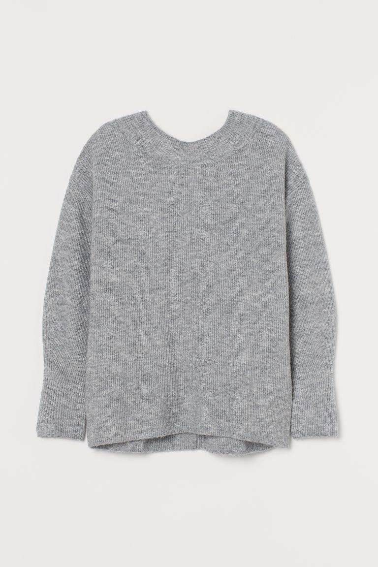 H & M - MAMA 羅紋套衫 - 灰色