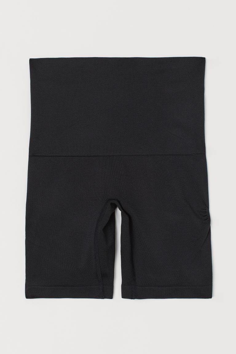 H & M - 緊緻塑身提臀短褲 - 黑色