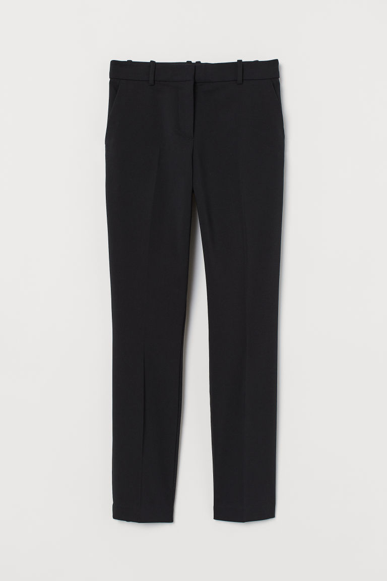H & M - 煙管褲 - 黑色