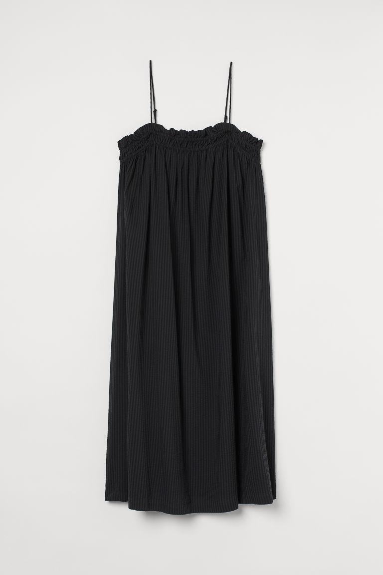 H & M - H & M+ 細肩帶洋裝 - 黑色