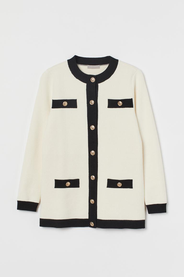 H & M - 正式風開襟衫 - 白色