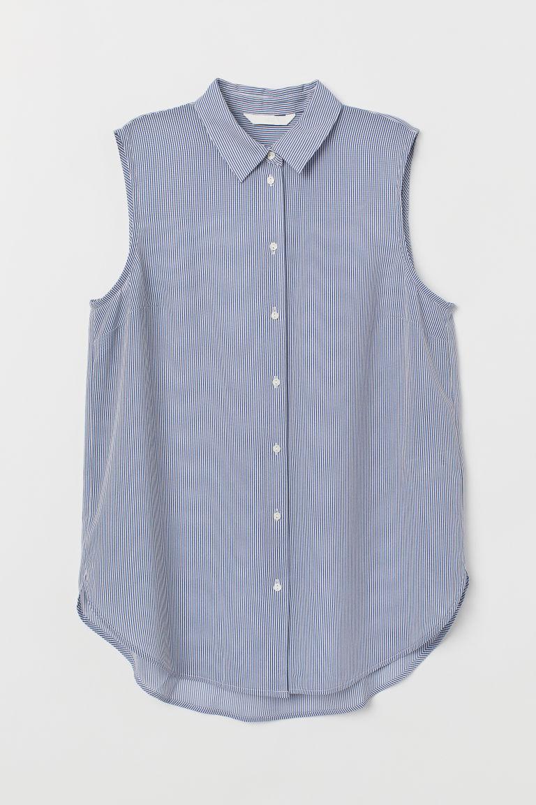 H & M - 無袖女衫 - 藍色