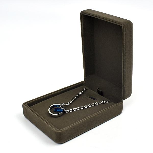 項鍊盒 簡雅咖色絨布飾品禮盒NAWA22