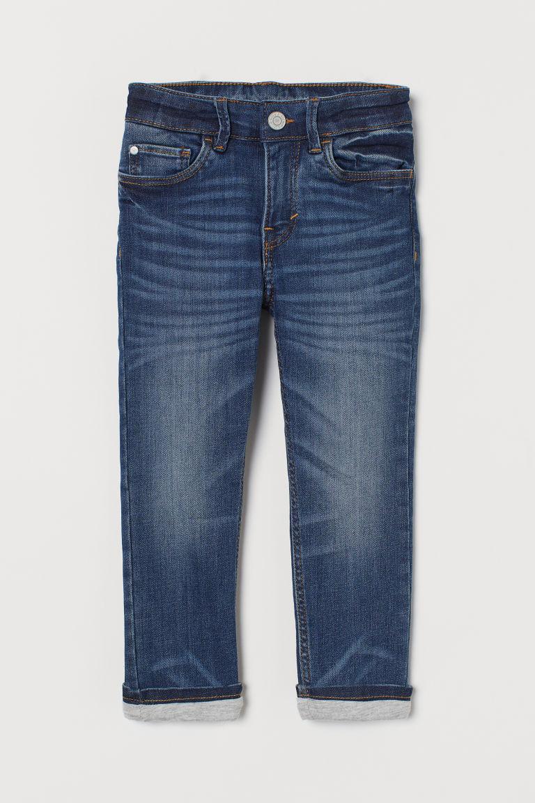 H & M - 窄管鋪內裡牛仔褲 - 藍色