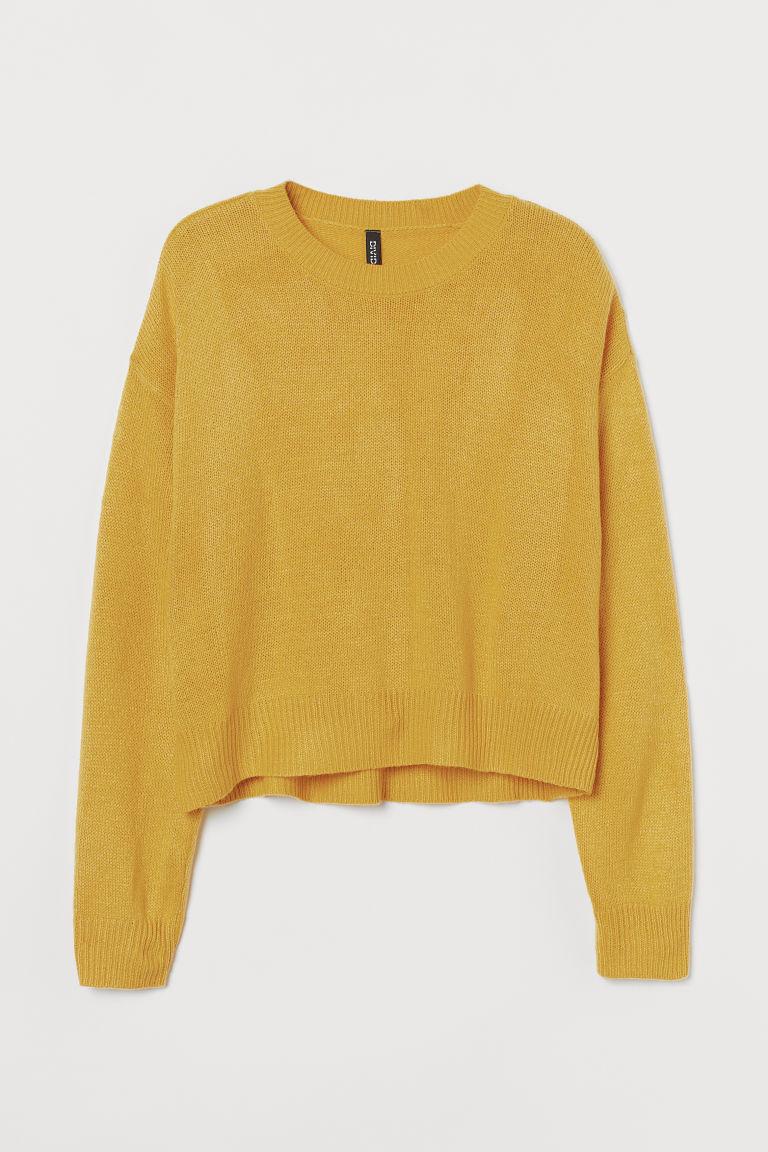 H & M - 針織套衫 - 黃色