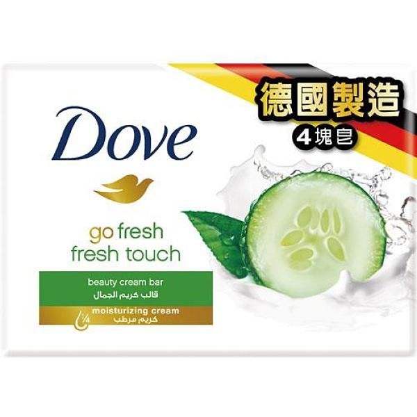 多芬清爽水嫩潔膚塊100g X4【愛買】