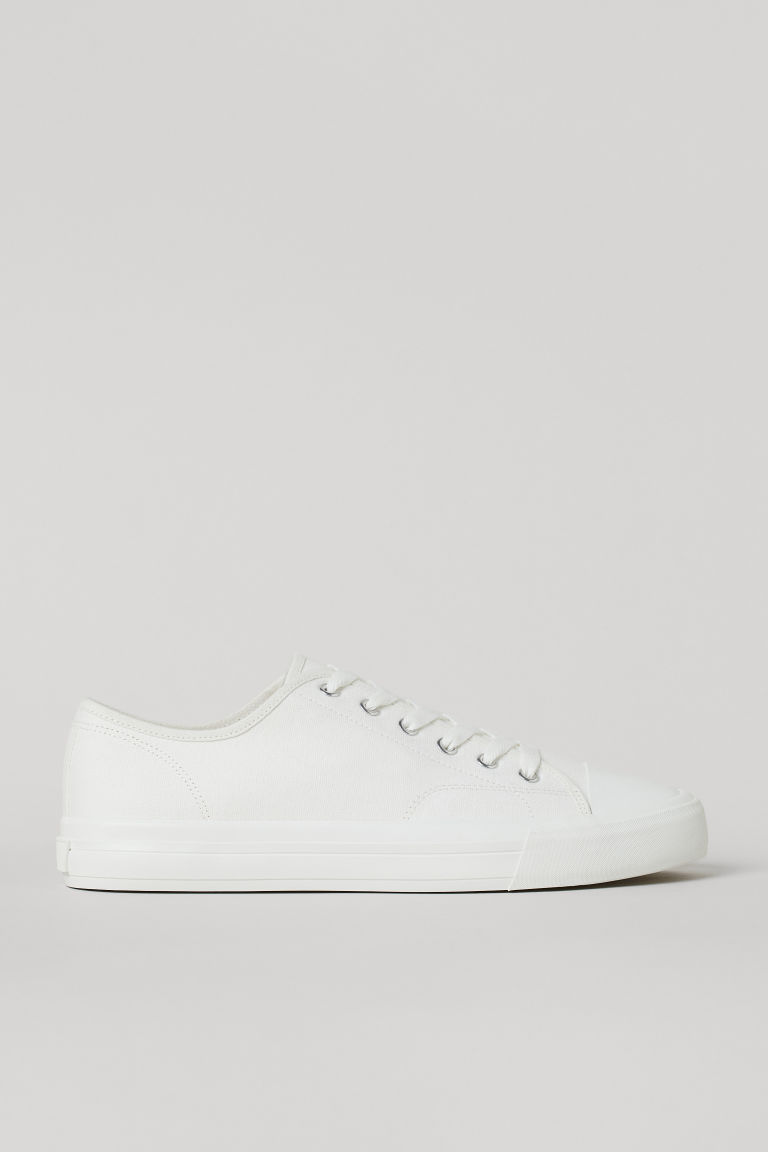 H & M - 帆布鞋 - 白色