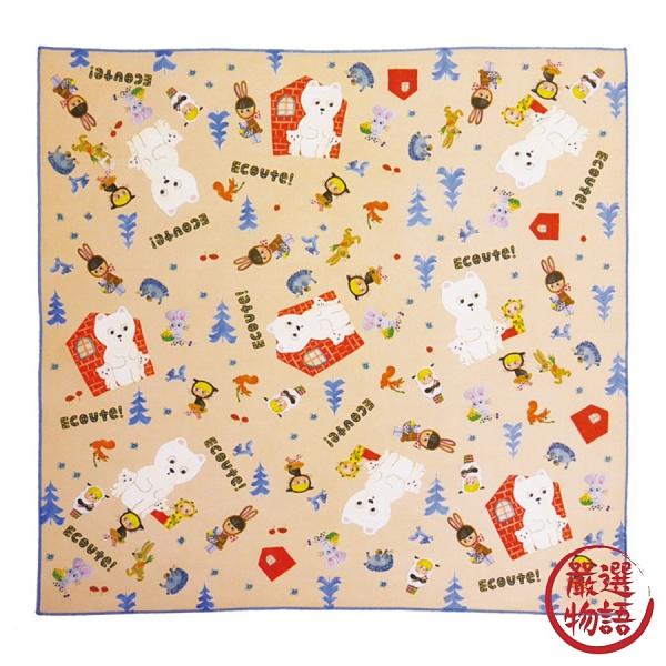 【日本製】【ECOUTE!】便當巾 餐巾布 白熊圖案(一組:5個) SD-3736 - ecoute!