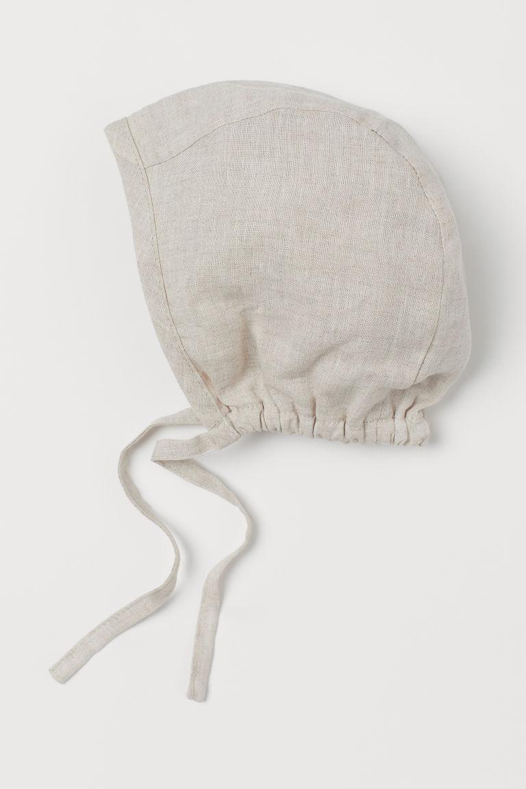 H & M - 亞麻童帽 - 米黃色