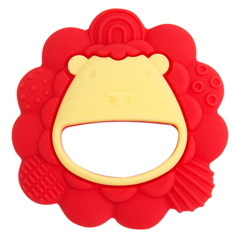 MARCUS&MARCUS 動物樂園感官啟發固齒玩具(獅子紅)