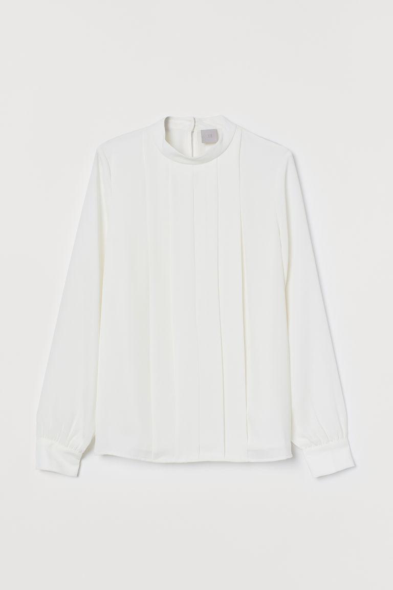 H & M - 抓褶女衫 - 白色
