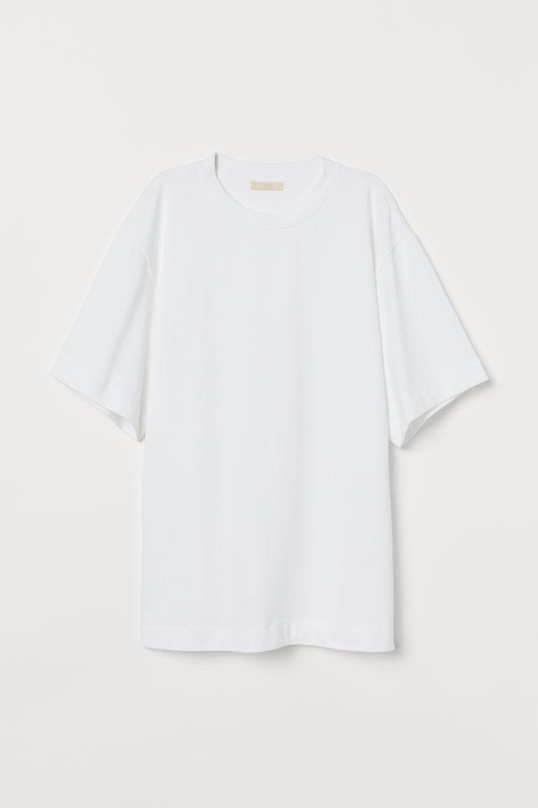 H & M - 加大碼T恤 - 白色