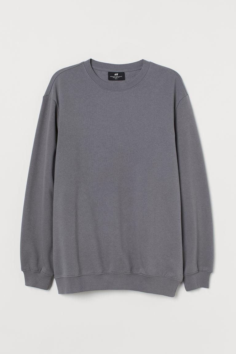 H & M - 休閒剪裁運動衫 - 灰色