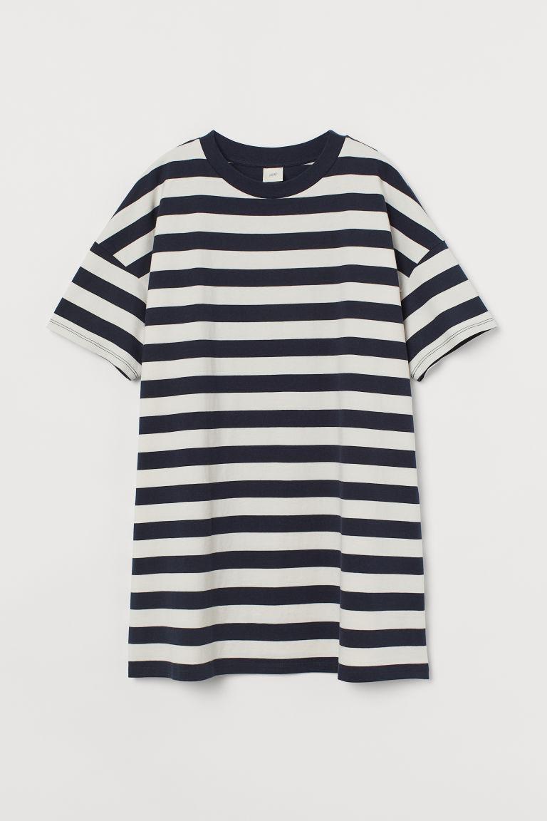 H & M - 棉質T恤洋裝 - 藍色
