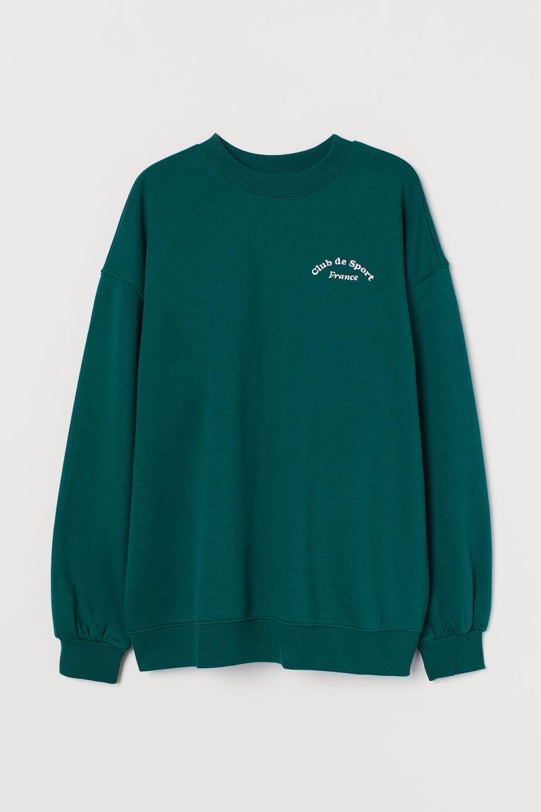 H & M - 加大碼運動衫 - 綠色