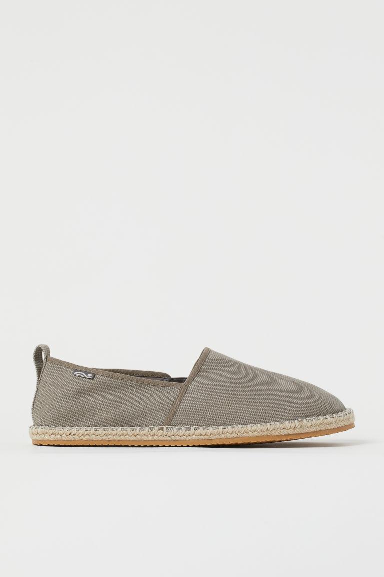 H & M - 草編鞋 - 灰色