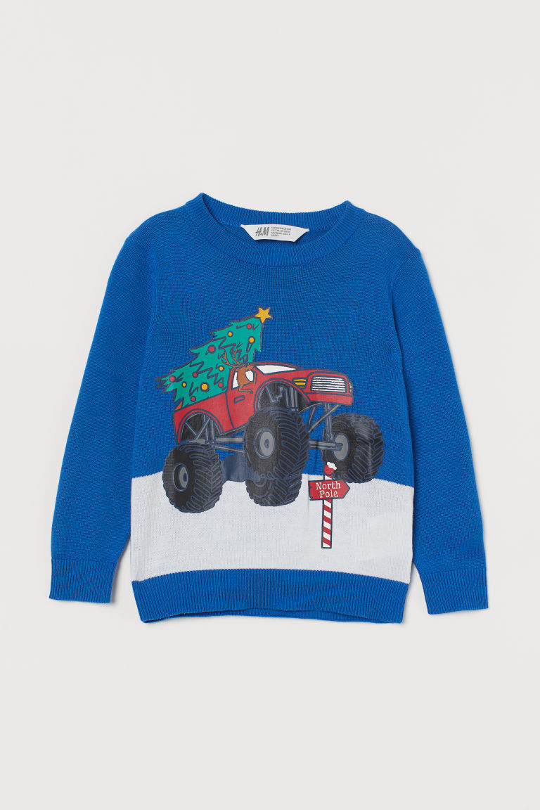 H & M - 精織套衫 - 藍色