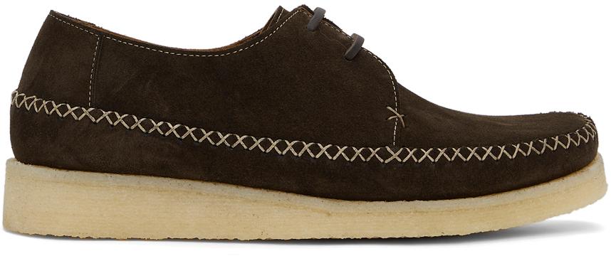 Comme des Garçons Homme Deux 棕色 Padmore & Barnes 联名绒面革乐福鞋