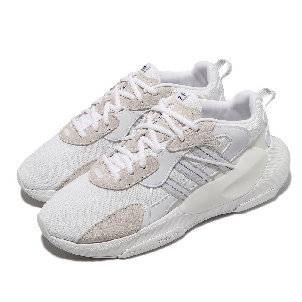 ADIDAS 休閒鞋 Hi-Tail 厚底 舒適 男鞋 愛迪達 簡約 質感 老爹鞋 穿搭 白 灰 [H69041]