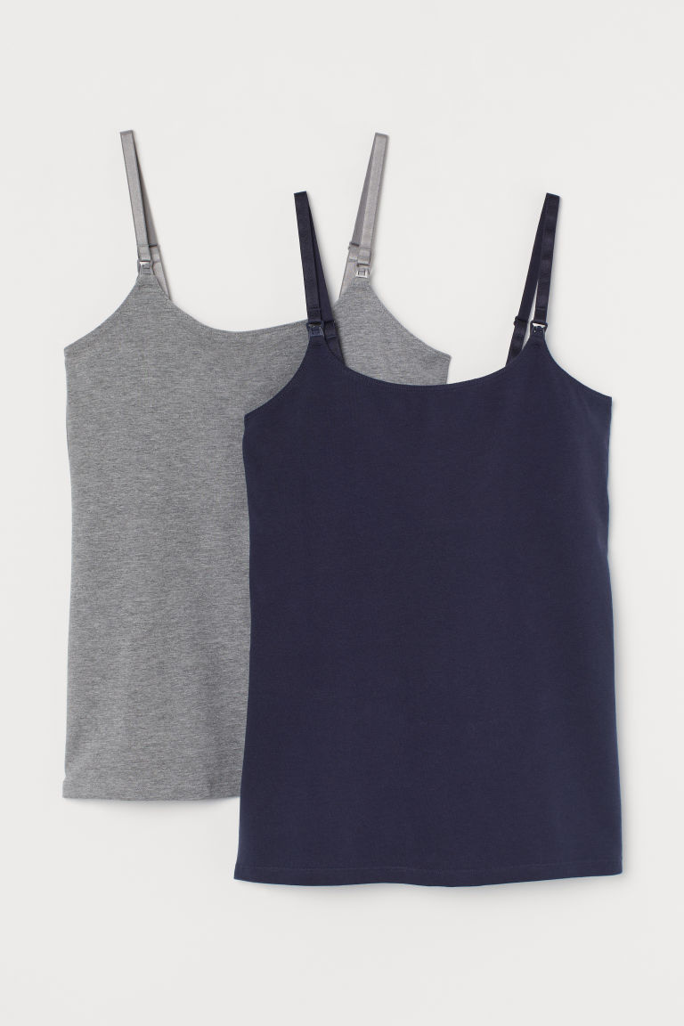 H & M - MAMA 2件入哺乳上衣 - 藍色